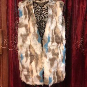 Jackets & Blazers - Faux Rabbit Fur Vest NWOT